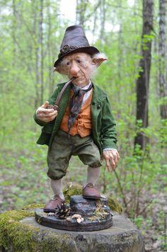 Leprechaun, Clowns, Male Fairy, Irish Tattoos, Fantasy Figures, Elves And Fairies, Hobgoblin, Troll Dolls, Polymer Clay Dolls