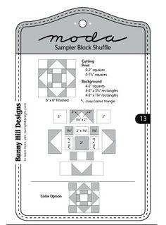 Moda Sampler Block Shuffle  -  Block # 13