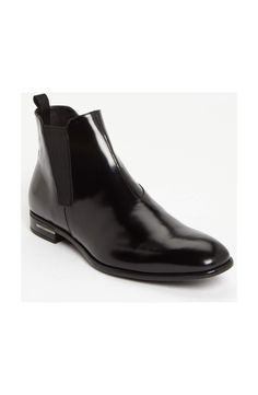 3d377e9093f33 Prada Chelsea Boot available at. Find this Pin and more on Mens shoe ...