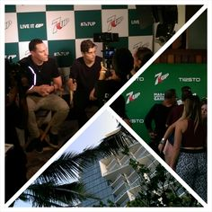 Standing by to interview Tiesto and Martin Garrix @ The W. for @UltraFiesta