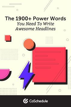 The 1,900+ Power Words You Need to Write Awesome Headlines Content Marketing Strategy, Marketing Tools, Social Media Marketing, Marketing Calendar, Powerful Words, Writing, Strong Words, Being A Writer