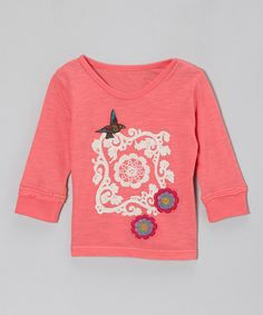 Take a look at this Pink Vintage Peonies Tee - Infant, Toddler & Girls on zulily today!