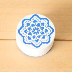 Vintage Chinese Style Blue and White Porcelain Wooden Stamp Art Pattern Stamp Scrapbooking Stamp
