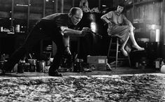 parkavenuearmory:  Happy Birthday Jackson Pollock! In honor of Jack the Dripper's 103 bday today, watch this comprehensive documentary about the abstract expressionist. (Paintings: Tiger (Number 3, 1949), Number 31 (1950), Mural (1943), 3rd photo: Jackson Pollock & Lee Krasner.)