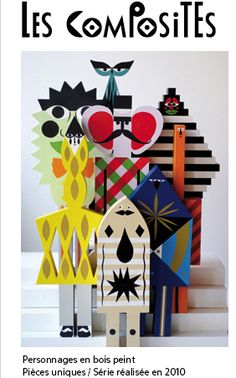 Inspiration for precut wood shapes and have students paint: By Séverin Millet