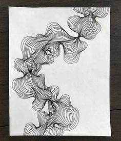 Abstract line art, black and white modern drawing, organic line shape design, line art frame included - kunst - Line Art Design, Form Design, Shape Design, Abstract Line Art, Abstract Drawings, Ink Drawings, Painting Abstract, Texture Painting, Black And White Lines