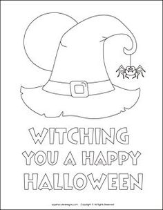 Free Witch Shoe Pattern | Free Halloween coloring pages - witch coloring sheets - witch hat ...