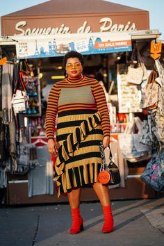European Street Style, Street Style Looks, Plus Size Fall Outfit, Plus Size Outfits, Cool Street Fashion, Paris Fashion, Chloe Fashion, Big Dresses, Mode Plus