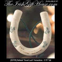 Irish wedding traditions - Bride carries a horseshoe for good luck (but never upside down)