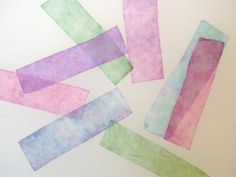 These pH paper test strips were made using coffee filters dipped in red cabbage juice. - Anne Helmenstine
