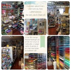 Bilder av butikken vår #lørenskog #røykåsveien like ved Jula & Elkjøp Megastore på #Karihaugen  #hobbybutikk #scrappebutikk #kunstnermateriell #maleutstyr #scrapbooking #smykkelaging #kortlaging #barnehobby