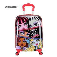 """18"""" inch Children Luggage Suitcase,Child Kid Boy Girl Princess Cat ABS Cartoon trolley case box Traveller Pull Rod Trunk                                                                                                                                                                                 More Kids Luggage, Luggage Suitcase, Trolley Case, Luggage Brands, Save Life, Kids Boys, Trunks, Abs, Cartoon"""