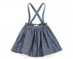 Soor Ploom Sparrow Mavis Skirt in Indigo Pin Stripe