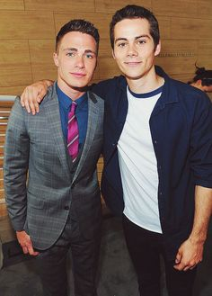 Colton Haynes Dylan O'Brien. Just a couple of Teen Wolf hotties
