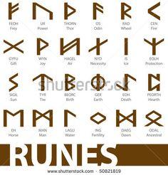 Ancient Celtic Symbols   Set ancient runes vector illustration icons symbols - stock vector