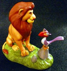 Lion King Mufasa and Zazu Lion King Party, Lion King Cakes, Simba And Nala, Art Cakes, Disney Collectibles, Designer Cakes, Fondant Figures, Birthday Cake Toppers, Disney Movies