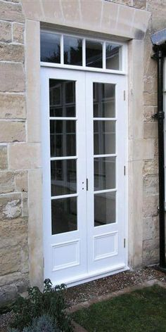 Narrow French Doors Actually Sidelights Mulled Together