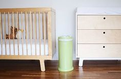 The Ubbi Diaper Pail comes in a bunch of beautiful colors and patterns and it holds odor well. | 24 Of The Most Life-Saving Baby Products To Order On Amazon