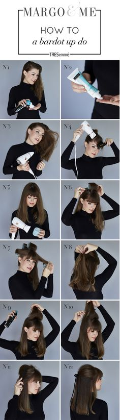 How to get Brigitte Bardot hair inspired by a half up half down up-do with TRESemme's Beauty-Full Volume Collection http://margoandme.com/beauty-full-volume/