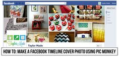 How to make a FB Timeline cover photo using Pic Monkey