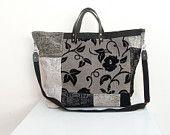 Time to Travel Weekender - Grey, Black, White Leather, Velvet Luggage