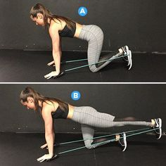 Squats  http://www.womenshealthmag.com/fitness/resistance-band-exercises-nikki-metzger?cid=soc_Women%2527s Health - Women%2527s Health - womenshealthmagazine_FBPAGE_Women%2527s Health__