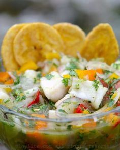 1006 best latin food images on pinterest cooking recipes easy ecuadorian fish ceviche or cebiche with plantain chips forumfinder Gallery