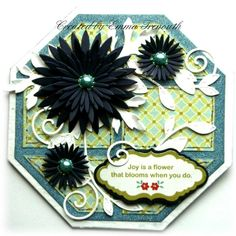 Crealies patchwork die, heartfelt asters and kaisercraft fine & sunny papers
