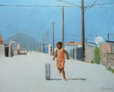 Township Life  #township #shacks #squattercamps #africa #thirdworld #artistsoninstagram #artsy #figurepainting #figurativeart #contemporarypaintings #youth #childrenofinstagram #streetscenes#oilpainting