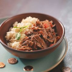 Chipotle Shredded Beef Slow Cooker Recipe from Taste of Home -- shared by Darcy Williams of Omaha, Nebraska   #crockpot   #healthy