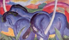Franz Marc, The Large Blue Horses, 1911
