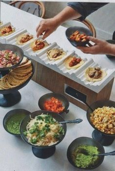 Insanely Fun Wedding Ideas - Have a Taco Bar at your reception. (Better yet, . 21 Insanely Fun Wedding Ideas - Have a Taco Bar at your reception. (Better yet, Insanely Fun Wedding Ideas - Have a Taco Bar at your reception. (Better yet, . Wedding Food Bars, Wedding Food Stations, Wedding Reception Food, Wedding Catering, Wedding Buffets, Taco Bar Wedding, Wedding Foods, Catering Food, Catering Display