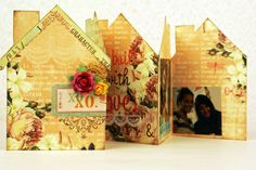 Scrapbooking, mini album, mini book, card. Supplies: Webster's Pages, Prima