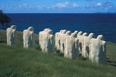 Martinique (French West Indies), Le Diamant, the Memorial of the Anse Cafard (Cockroach Cove) symbolizing the drowning of the slaves at the time of the shipwreck of a ship in Bay - Photo : Jean-Marc Lecerf