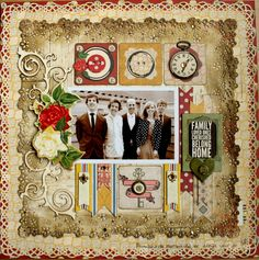 Family layout by Romy Veul for BoBunny featuring Misc. Me products. #BoBunny @romy19