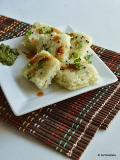Gujrati food...Poha Dhokla