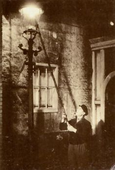 """Lamplighter... When the streets were lit with """"illuminated gas"""""""