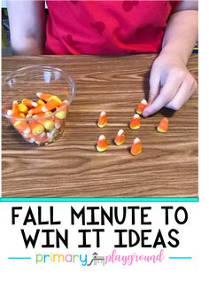 Fall Minute to Win It Ideas