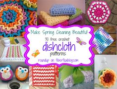 30 Free Crochet Dishcloth Patterns...perfect timing, I adore the little owl scrubbie, must make!!