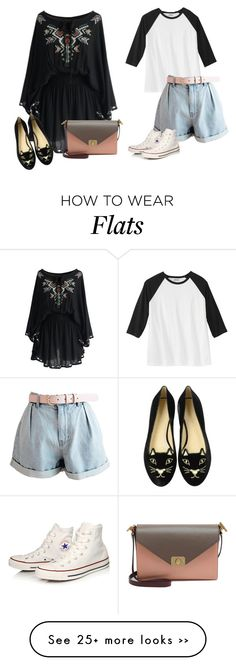 """Untitled #1120"" by audrey-balt on Polyvore featuring Charlotte Olympia, Mulberry and Converse"