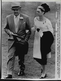 Princess Grace with Prince Rainier at Ascot, 1966