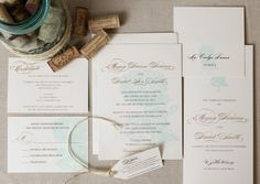 Gold and chocolate, floral wedding invitations | Courtney Callahan Paper