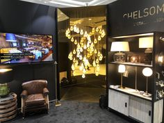 Great time at BDNY exhibition, New York we love you! Office Parties, Lighting Solutions, Lighting Design, Chandelier, Ceiling Lights, York, Home Decor, Light Design, Candelabra