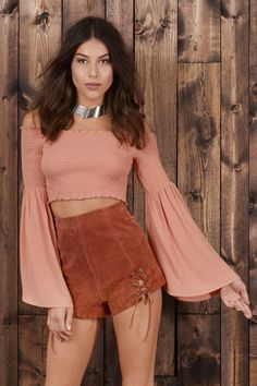 High Up Genuine Suede Shorts at Tobi.com  |  Are You Festival Ready?!? | #SHOPTobi | Festival Fanatic | Find your festival look at www.TOBI.com