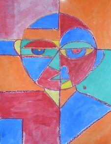 Klee self portrait lesson