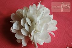 tissue paper flowers tutorial