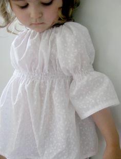 Girls Peasant Blouse- White Eyelet http://Pinterest.com/Treypeezy http://OceanviewBLVD.com