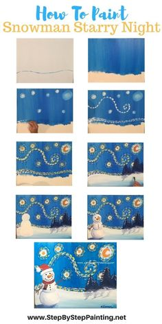 How To Paint Snowman Starry Night How To Paint Snowman Starry Night Kelly Froyen kfroyen canvas art How to paint snowman starry night This is a nbsp hellip Painting easy Canvas Painting Tutorials, Painting Lessons, Art Lessons, Christmas Paintings, Christmas Art, Winter Art Projects, Easy Art Projects, Ecole Art, Paint And Sip
