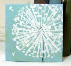 dandelion painting 6 x 6
