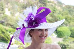DIY Derby Days Hat, purple derby hat, Laura lily fashion blog, Del Mar Racetrack outfit, what to wear to the racetrack,